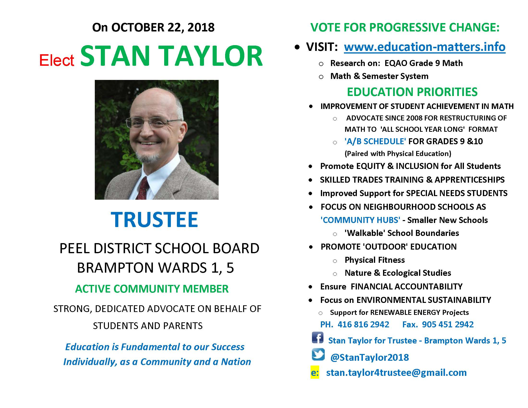 TRUSTEE Pamphlet - Stan Taylor, Final